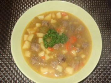 Rindfleischsuppe mit Kartoffeln und einem Hauch aus China! - Rezept