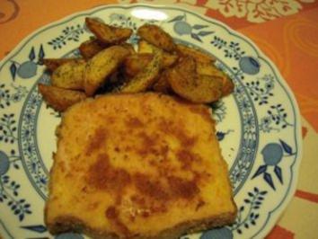 Leberkäse, gefüllt mit Frankendamer Käse - Rezept