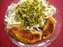 Putenschnitzel mit Erbsengemüse - Rezept