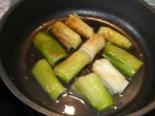 Gemüse:  Lauch / Porree gedämpft - Rezept