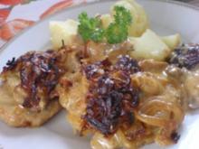 Zwiebel-Sahne-Schnitzel überbacken - Rezept
