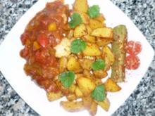 Scharfe Zigeunerwurst mit Kartoffelecken - Rezept