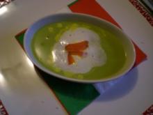 Erbsen Suppe mit Safransud - Rezept
