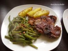 Lammkotelett mit grünen Bohnen und Kräuterkartoffeln - Rezept