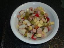 Salate: Radieschen - Käsesalat - Rezept