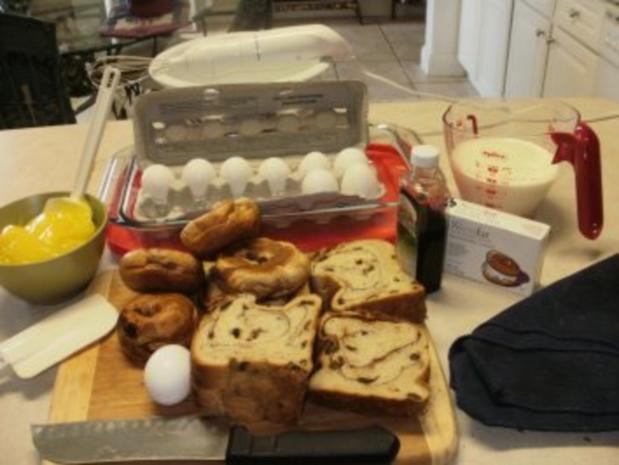 Pudding- Florida Zitronenpudding mit Brot oder Brotresten - schmeckt besser wie Kuchen und so einfach - Rezept - Bild Nr. 2