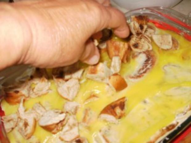 Pudding- Florida Zitronenpudding mit Brot oder Brotresten - schmeckt besser wie Kuchen und so einfach - Rezept - Bild Nr. 6