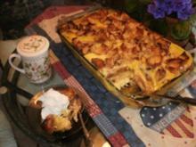 Pudding- Florida Zitronenpudding mit Brot oder Brotresten - schmeckt besser wie Kuchen und so einfach - Rezept