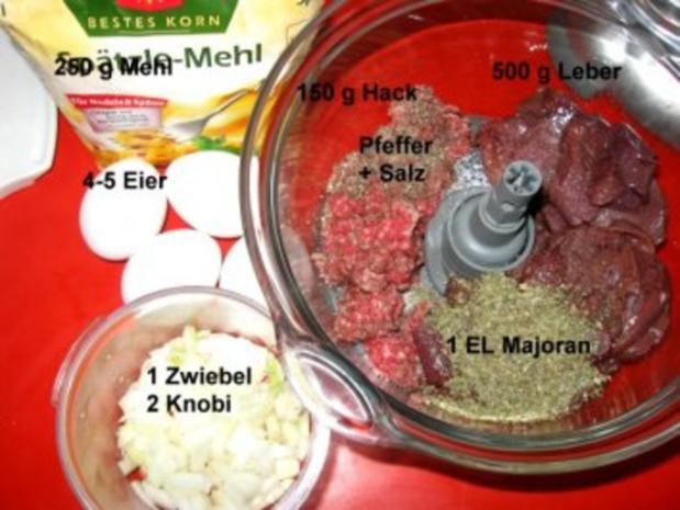 Lebernocken in herzhafter klarer Suppe mit Gemüsewürfel - Rezept - Bild Nr. 4