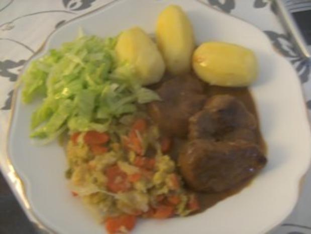 Schweinefilet  in Rotweinsoße   Wirsing -Rahm- Gemüse und - Rezept - Bild Nr. 8