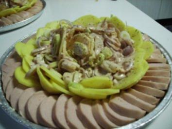 Kartoffel-Lauch-Gratin im Fleischwurstkranz - Rezept