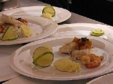 Gebratener Rochenflügel auf Limonen-Kartoffel-Püree - Rezept