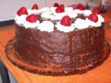 Erdbeer-Schoko-Torte mit Sahne - Rezept