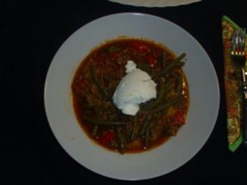 Pfannengerichte: Paprika - Bohnen - Hackpfanne - Rezept