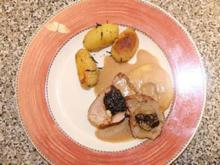 Gefülltes Schweinefilet mit Pflaumen und Mandeln - Rezept - Bild Nr. 9