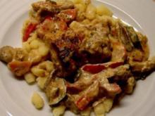 Überbackenes Filet mit buntem Gemüse - Rezept