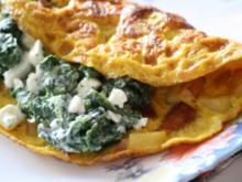Kartoffelomelette  mit Feta & Spinat - Rezept