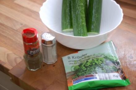 Gurkensalat (frisch) - Rezept