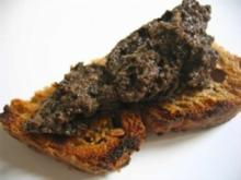 TAPAS : Schwarzen Oliven Paté mit Anchovis. - Rezept