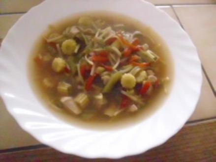 Chinesische Hühnersuppe - Rezept