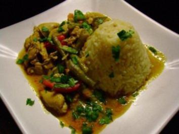 Geflügel: Grünes Hühner-Curry - Rezept