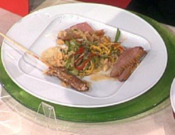 Miral-Ente mit Erdnuss-Sauce und gebratenem Gemüse-Reis á la Zacherl - Rezept