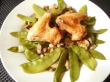 Hähnchenflügel auf Wokgemüse - Rezept