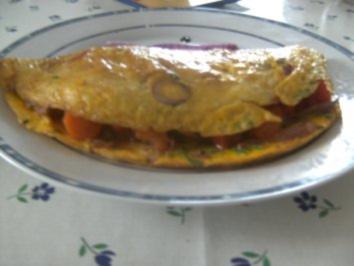 Eier-Schinken-Omlet mit - Rezept
