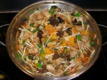 Hähnchenbrust kross mit Pilzen und allerlei - Rezept
