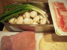 Putenschnitzel mit Champignons und Lauchzwiebeln - Rezept