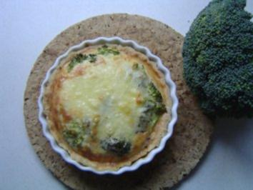 Brokkoli-Schinken Quiches - Rezept