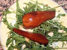 Rucolasalat mit karamellisierten Birnen und Gorgonzola - Rezept