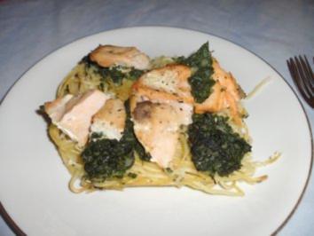 Spaghetti-Lachs-Torte - Rezept