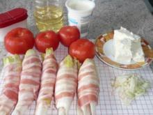 Auflauf: Chicorèe mit Tomaten und Feta - Rezept