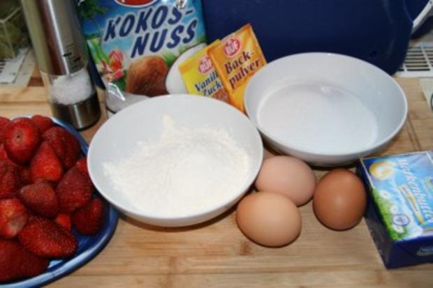 Kuchen: Erdbeer-Baiser-Torte - Rezept - Bild Nr. 2