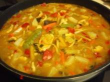 Fleisch: Basmatireis mit Hühnerfleisch, Curry und Ananas - Rezept