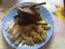 Täubchen mit Kartoffeln und Schwarzwurzeln - Rezept