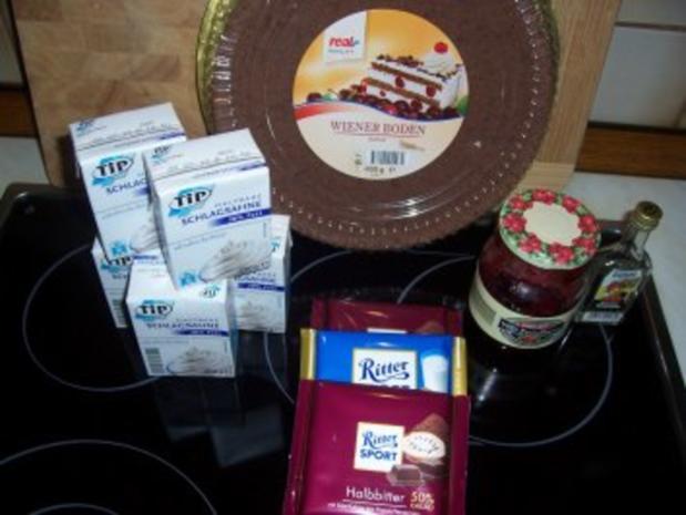 Kuchen/Torte...Schokoladen-Sahne-Torte mit Preiselbeeren - Rezept - Bild Nr. 2