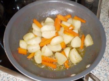 Glasierte weiße Rüben und Karotten - Rezept