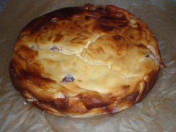 Quarkkuchen mit Sauerkirschen - Rezept