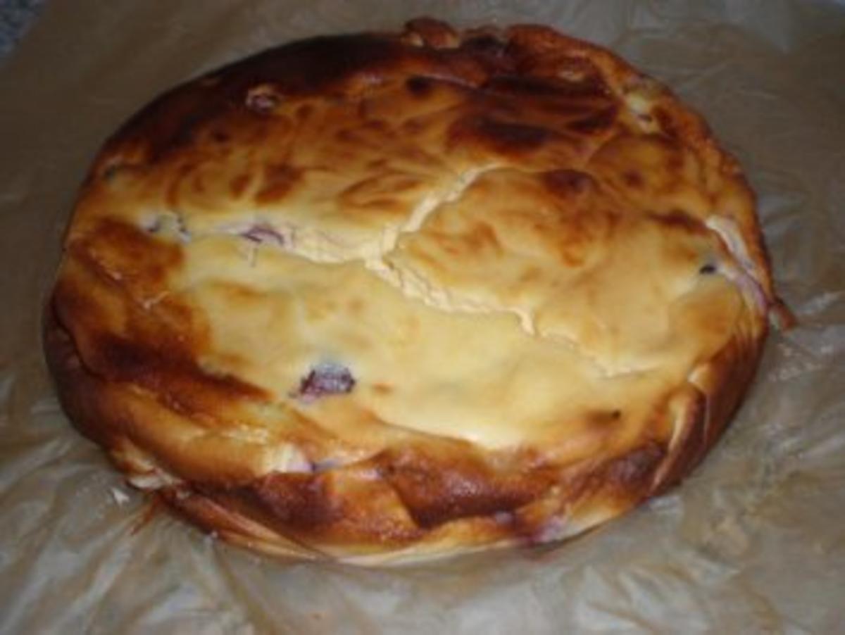 Quarkkuchen mit Sauerkirschen Rezept By Babbelchen