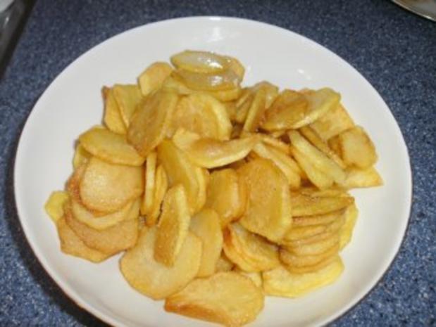 Fritierte Kartoffelscheiben......es müssen nicht immer Pommes sein - Rezept