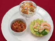 New York Waldorfsalat, California Shrimpscocktail und Texas style Chili - Rezept