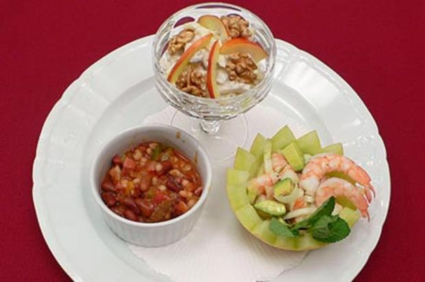 New York Waldorfsalat, California Shrimpscocktail und Texas style Chili - Rezept