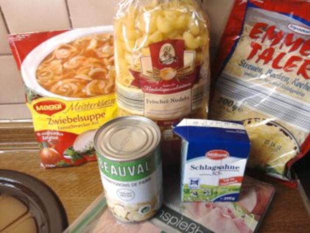 Zwiebel-Sahne-Pasta gratiniert - Rezept - Bild Nr. 3