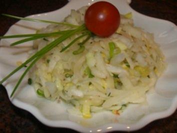 Salatbar:   Chicorêe ~ Kohlrabi ~Salat - Rezept