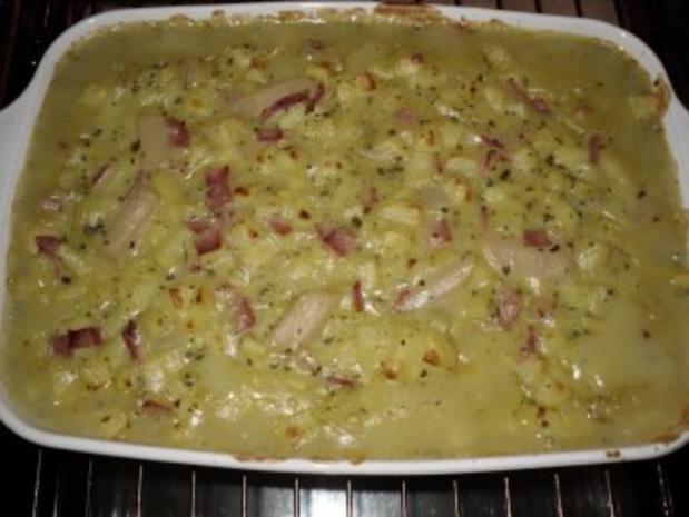 Spargel-Schinken-Auflauf mit Käse überbacken - Rezept - Bild Nr. 4