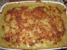 Spargel-Schinken-Auflauf mit Käse überbacken - Rezept