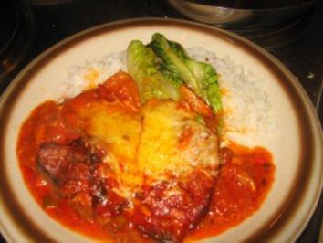 Fleisch: Überbackene, scharfe Tomatenkotelett aus dem Ofen - Rezept
