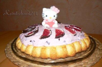 """rosa Mohrenkopftorte """"Hello Kitty"""" - Rezept"""